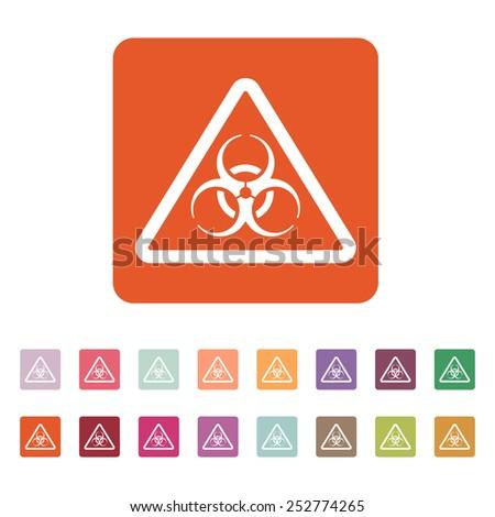 The biohazard icon. Biohazard symbol. Flat Vector illustration. Button Set - stock vector