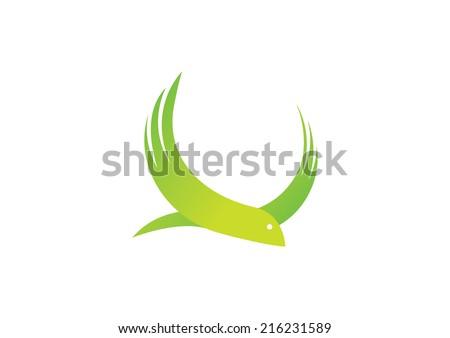 The Bird Vector Logo - stock vector