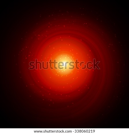 The black hole tunnel or vortex - stock vector