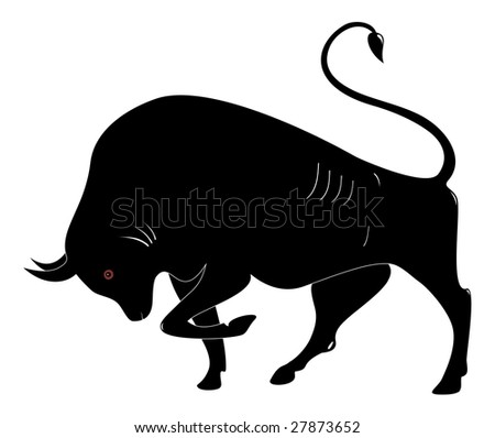 The black on a white background, a vector illustration - stock vector