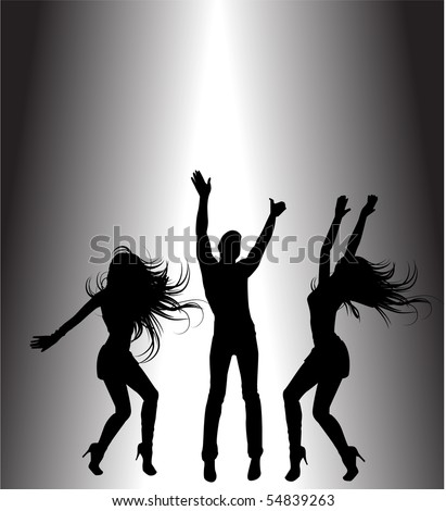 the black vector party silhouette eps 8 - stock vector