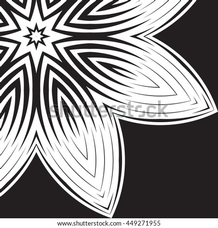 The black-white round floral pattern. Geometric fashion pattern. The circular pattern. Decorative items to decorate your work - stock vector