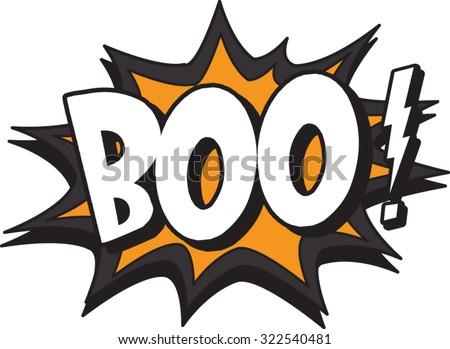 the boo - stock vector