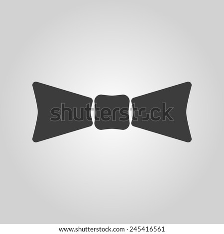 The bow tie icon. Bow tie symbol. Flat Vector illustration - stock vector