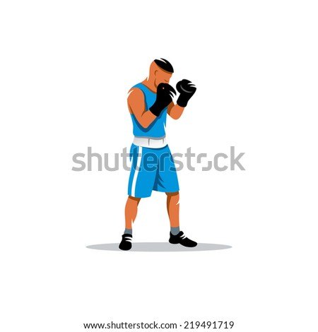 The boxer Branding Identity Corporate vector logo design template Isolated on a white background - stock vector