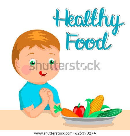 boy wants eat healthy food healthy stock photo photo vector rh shutterstock com healthy food clipart border healthy food clip art pictures