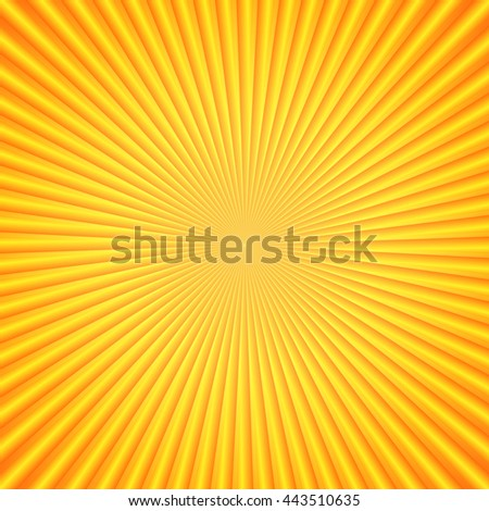 The bright sun rays. Orange color. Element for your design. Bright template. Vector illustration. - stock vector