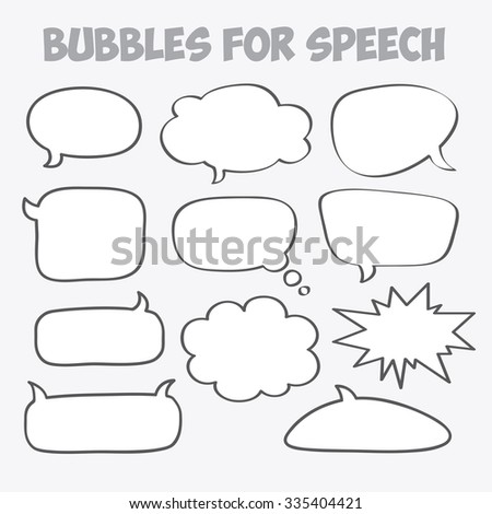 The bubble speech. Vector work.