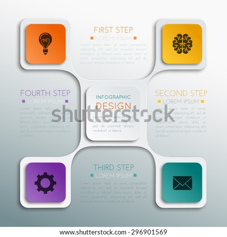 The business concept. Step-by-step. - stock vector
