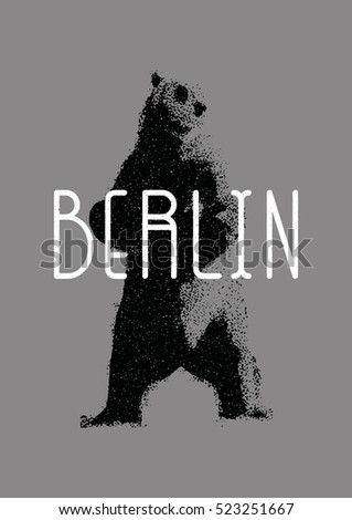 Capital Germany Berlin Symbol Berlin Bear Stock Photo Photo Vector