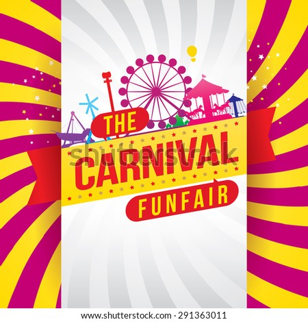 The carnival funfair and magic show. vector illustration - stock vector