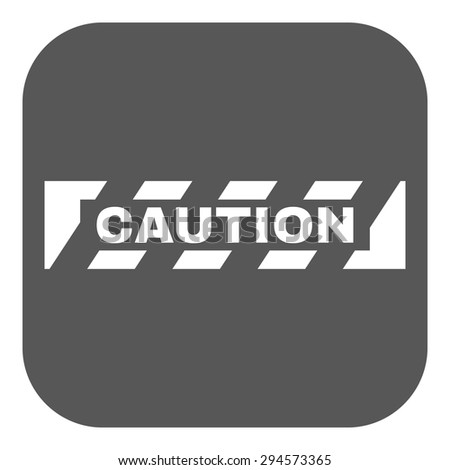 The caution icon. Danger and hazard, attention symbol. Flat Vector illustration. Button - stock vector
