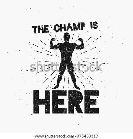 logotype boxing academy motivating phrase stock vector