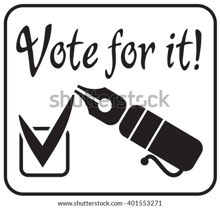 The check mark of acceptance positive voting. Vector illustration - stock vector