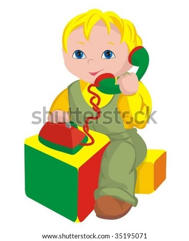 The child - director - stock vector