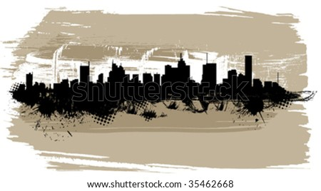 the city silhouette