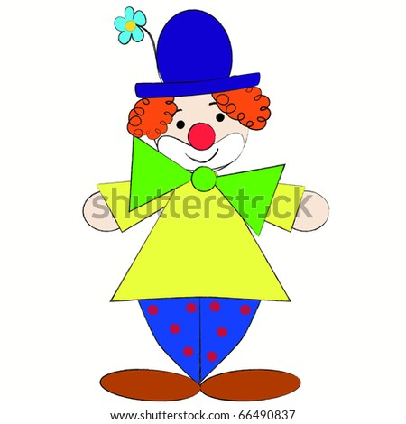 The clown - stock vector