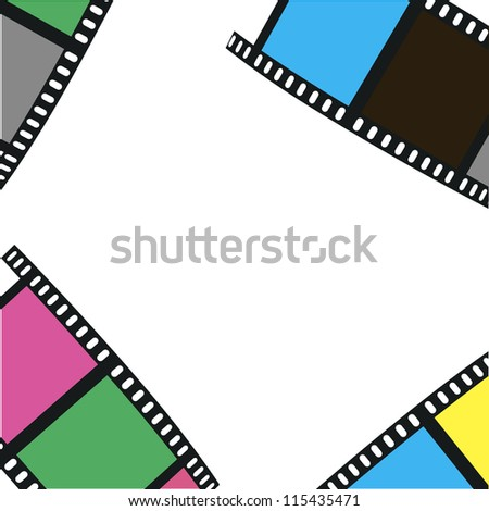 The composition of the film on a white background. Vector illustration - stock vector