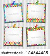 The composition photo frames. Vector illustration. Scrapbooking. - stock vector