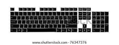 The computer keyboard - stock vector