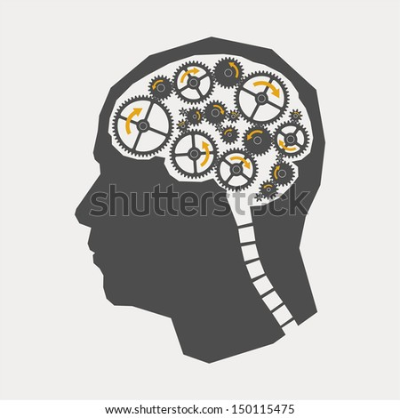 The concept of brain - stock vector