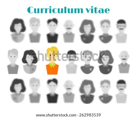 The concept of employment. head hunter searching. The choice of the candidate to work from many people.Selection of a candidate for the job  - stock vector