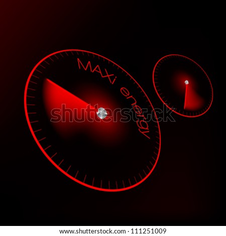 the concept of energy in the form of a speedometer, tachometer - stock vector