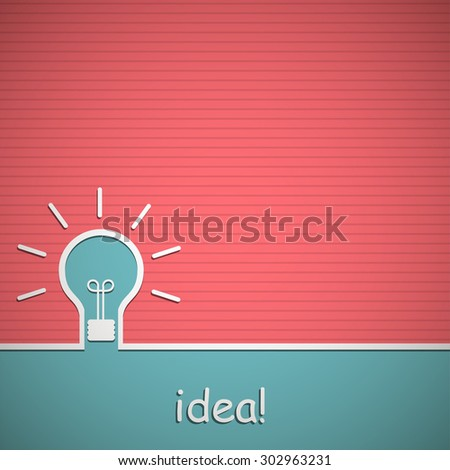 The concept of idea. Background with  light bulb. Vector illustration - stock vector