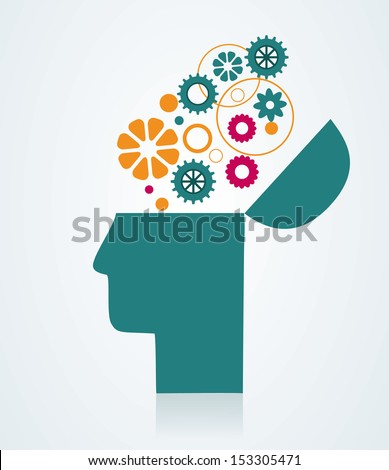 The concept of imagination and ideas. - stock vector
