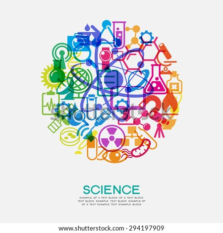 The concept of scientific discoveries. The idea of learning. Modern technological solutions - stock vector