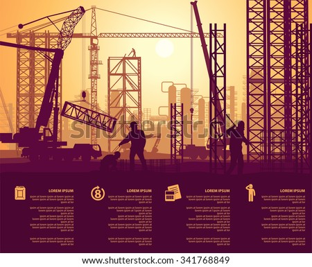 the construction of the plant - stock vector