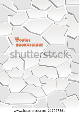 The cracks texture white . Vector background.Seamless wallpaper - stock vector