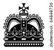 The crown, vector illustration - stock vector