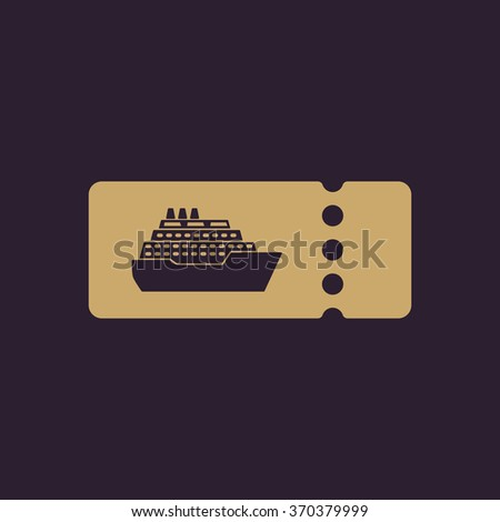 Cruise Ship Tickets Icon Travel Symbol Stock Illustration - How much is a cruise ship ticket