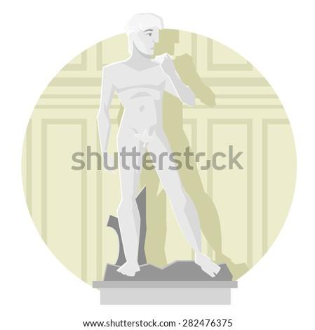 the David sculpture - stock vector