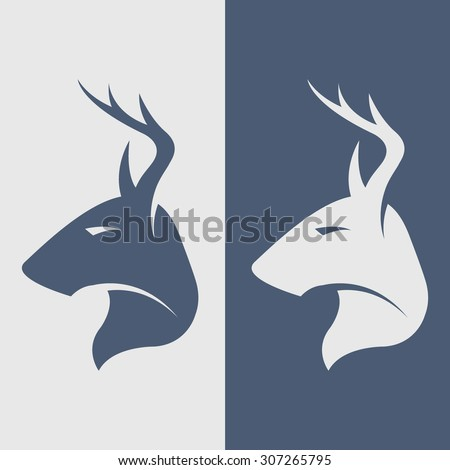 The deer symbol, logo, icon. - stock vector