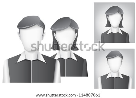The default avatar, user profile picture on the white background - stock vector