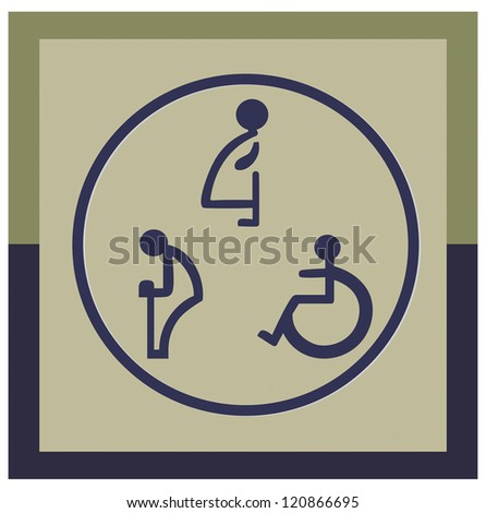 The disabled toilet or Restroom signs - stock vector