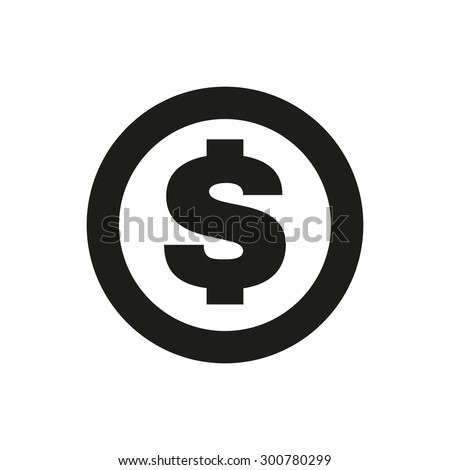 The dollar icon. Cash and money, wealth, payment symbol. Flat Vector illustration - stock vector