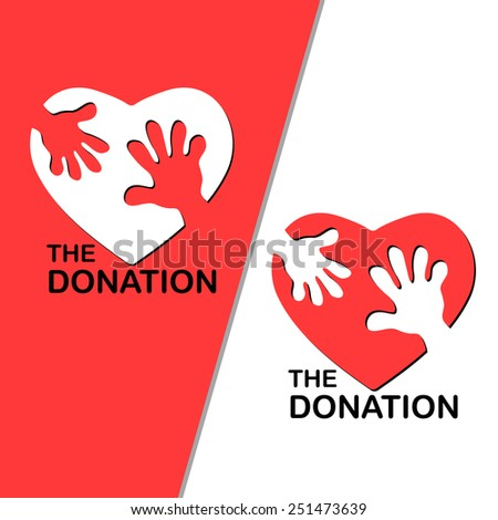 The Donation - stock vector