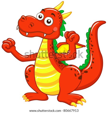 Image result for red dragon cartoon image