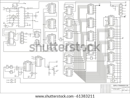The drawing, the scheme the electric basic - stock vector