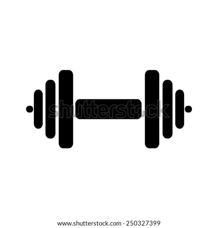 The dumbbell icon. Barbell symbol. Flat Vector illustration - stock vector