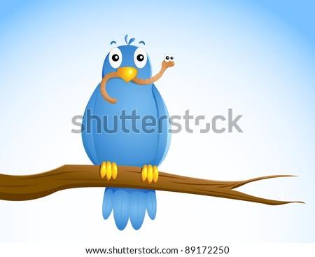 the early bird - stock vector