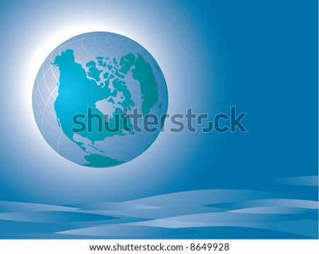 The Earth. America. Vector - stock vector