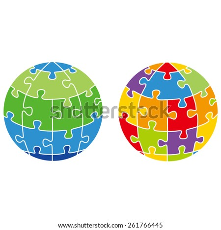 The earth, puzzle, peace