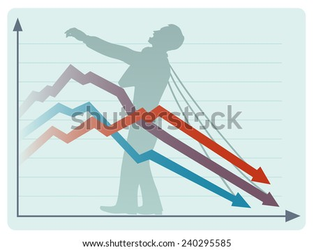 The economic collapse - stock vector