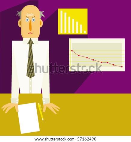The Economic recession - stock vector