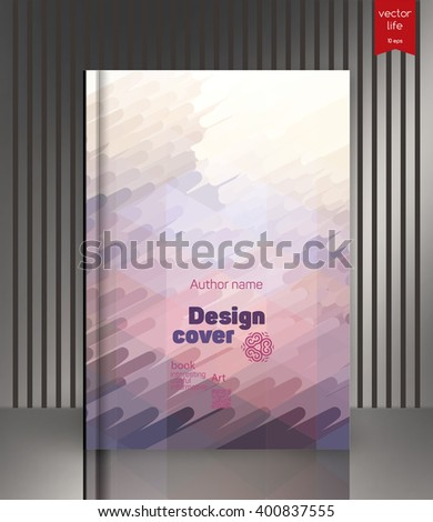 The effect of bright light. Cover for the company's environmental, energy, and environmental organizations. Vivid Parallel lines forming picturesque texture. - stock vector