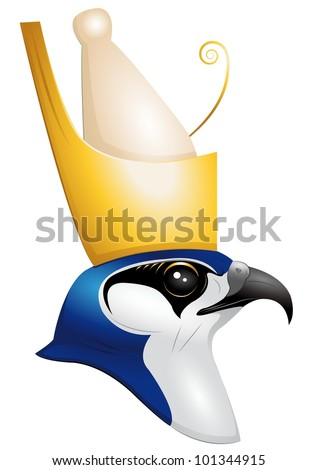 the egyptian god Horus - stock vector